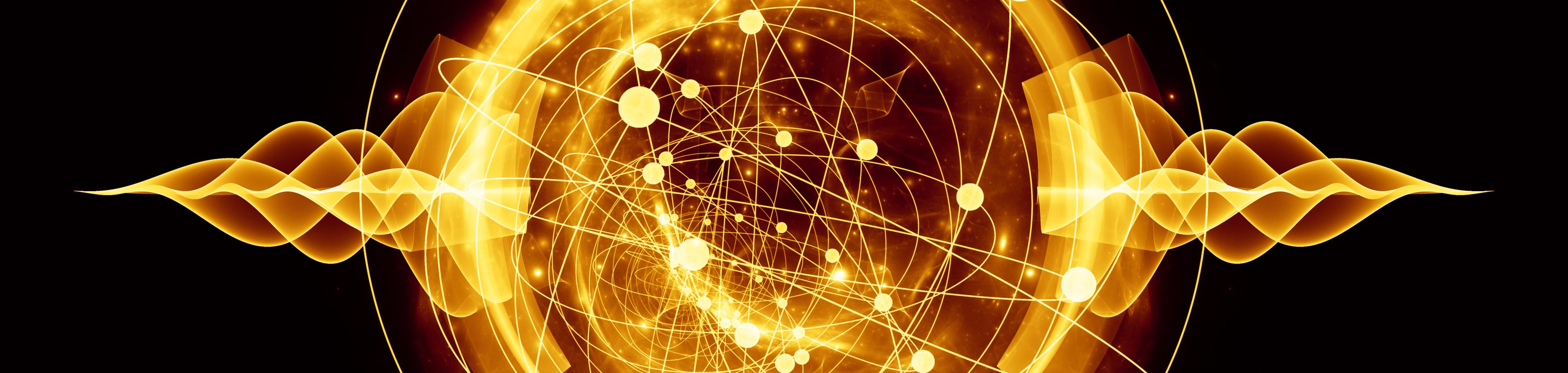 cropped flaming atom